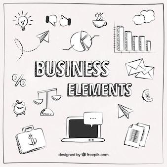 Skizziert business-elemente