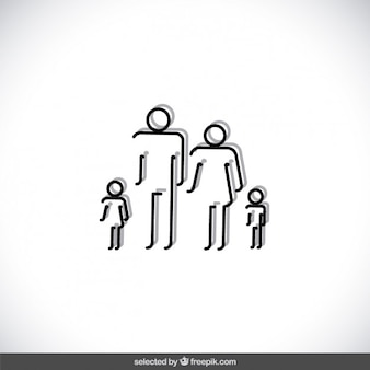Skizziert familie