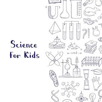 Skizzierte wissenschafts- oder chemieelemente