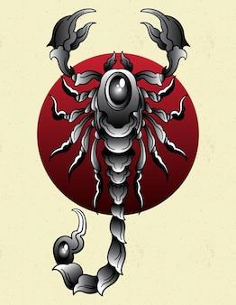 Skorpion tattoo alte schule