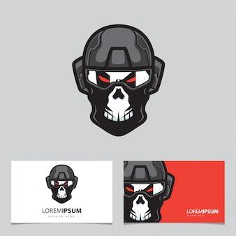 Skull army sport logo