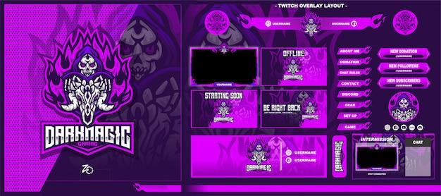 Skull magic gaming layout