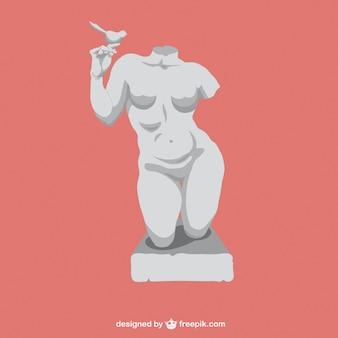 Skulptur eines körpers