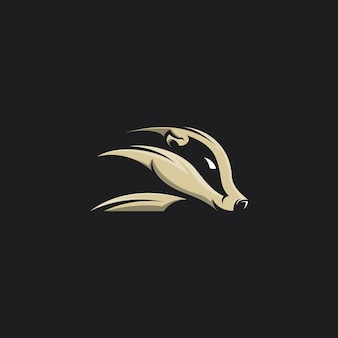 Skunk head vector