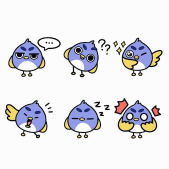 Skurrile kleine vogelillustration