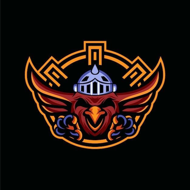 Sky guardians eagle maskottchen-logo