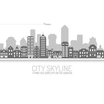 Skyline der stadt schwarz