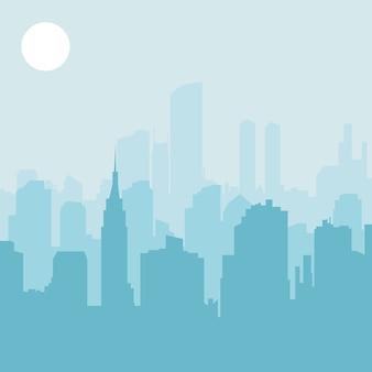 Skyline der Stadt