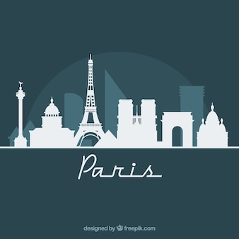 Skyline-design von paris
