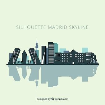 Skyline silhouette von madrid