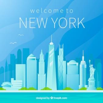 Skyline silhouette von new york city