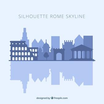 Skyline silhouette von rom
