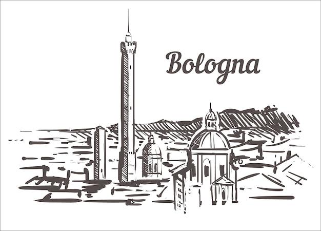 Skyline-skizze von bologna