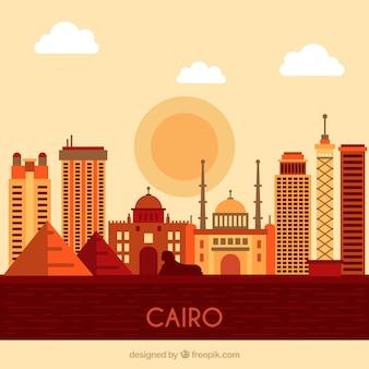 Skyline von kairo, ägypten