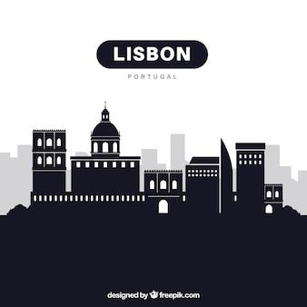 Skyline von lissabon