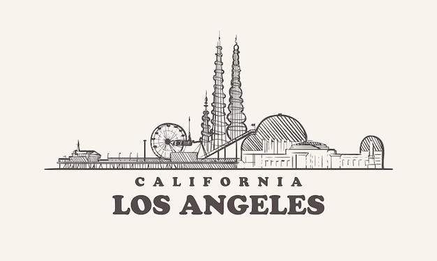 Skyline von los angeles, kalifornien