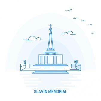 Slavin memorial blauer markstein