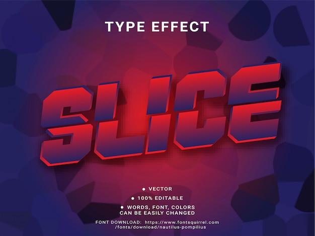 Slice text effekt mit starkem spiel 3d bold style