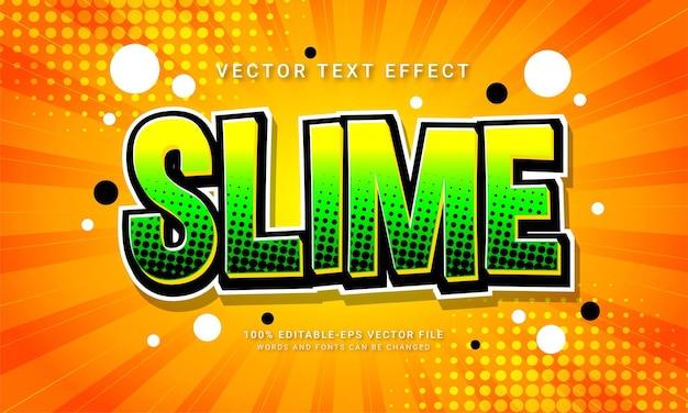 Slime comic editierbarer texteffekt mit minimalistischem cartoon-stil