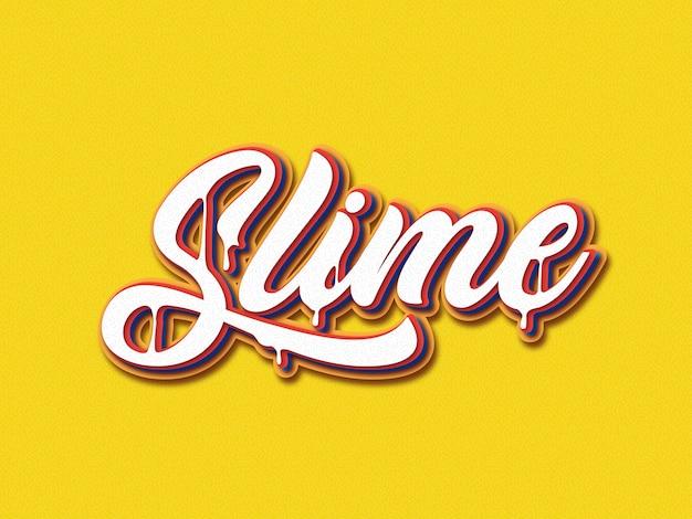 Slime font style bearbeitbar