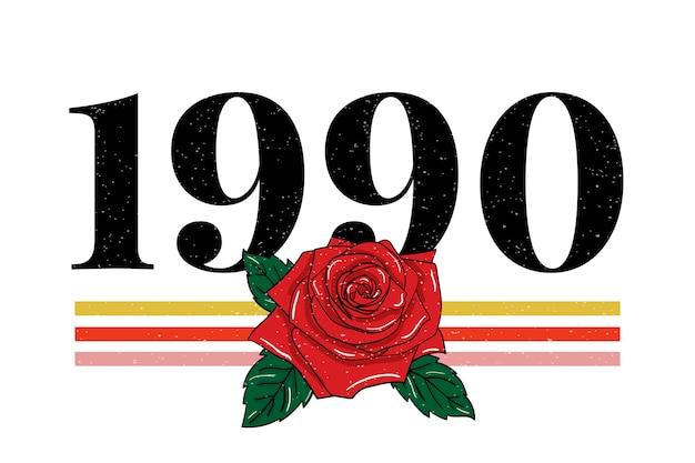 Slogan 1990 mode schriftzug kalligraphie