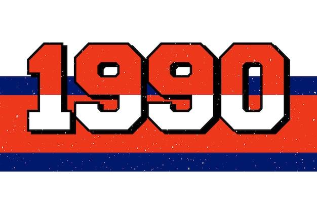 Slogan 1990 schriftzug