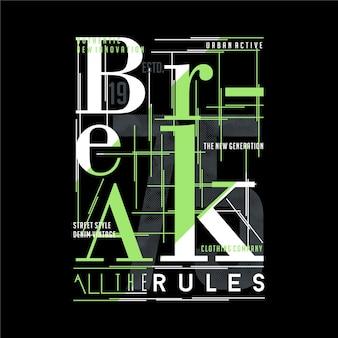 Slogan abstrakte gestreifte grafische typografie, t-shirt design premium