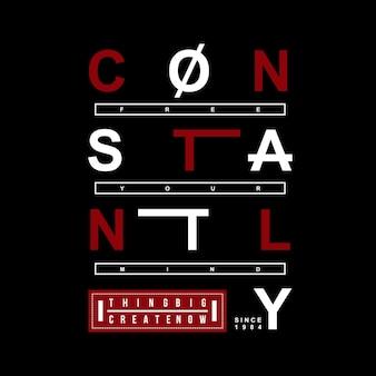 Slogan, der ehrfürchtiges typografiet-shirt beschriftet