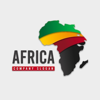 Slogan-logo der afrika-kartenfirma
