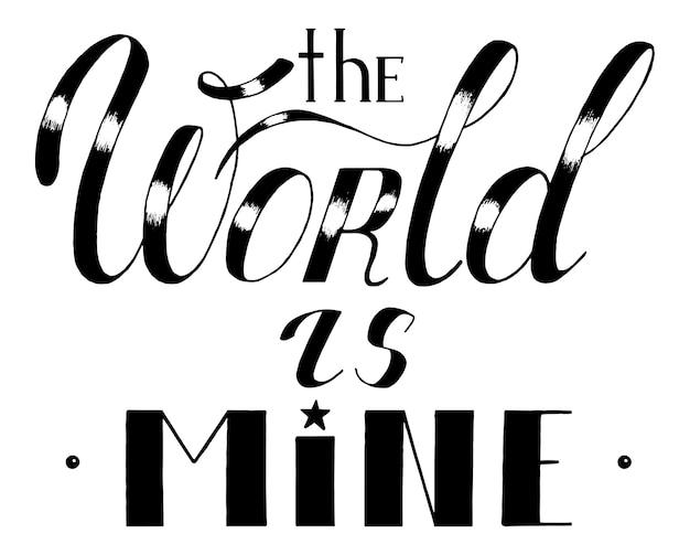 Slogan monochrome abbildung
