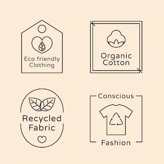 Slow fashion abzeichen kollektion