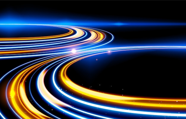 Slow shutter light trails-effekt