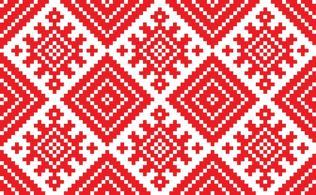 Slowenische traditionelle musterverzierung. nahtloser hintergrund