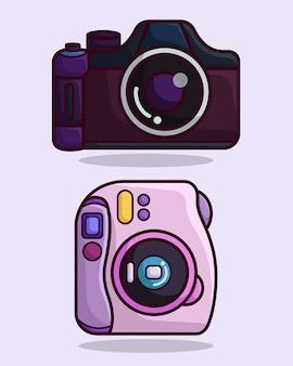 Slr- und instax-kamera
