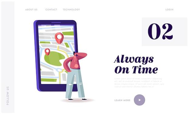 Smart app für auto service order per telefon landing page template.