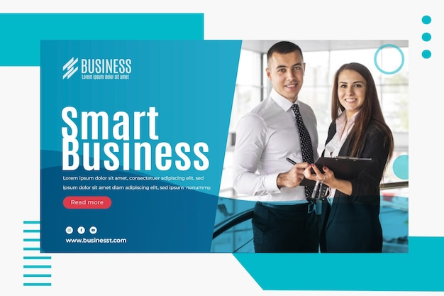 Smart business banner vorlage