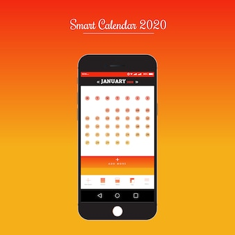Smart calendar-app für ui / ux