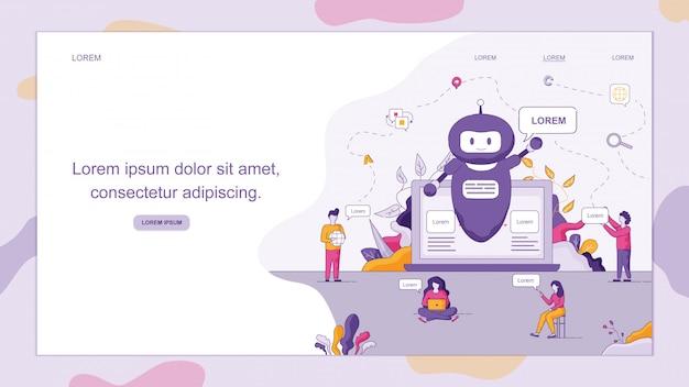 Smart chatbot begrüßt kunden.
