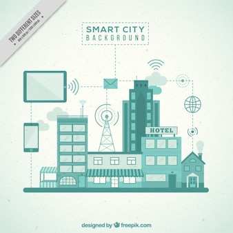 Smart-city-hintergrund
