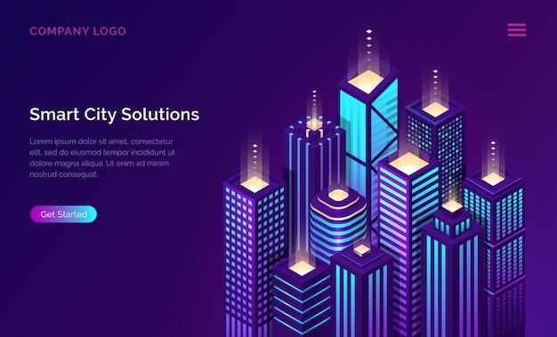 Smart city, internet der dinge netzwerktechnologie