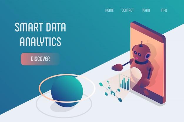 Smart-data-analytics-smartphone-roboter