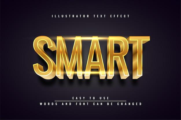 Smart - editierbares texteffektdesign 3d gold