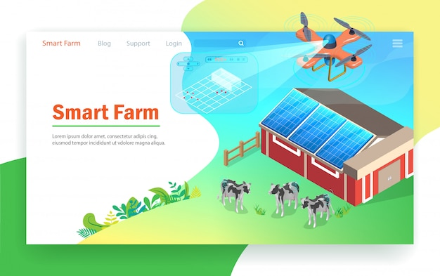 Smart farm-technologie.