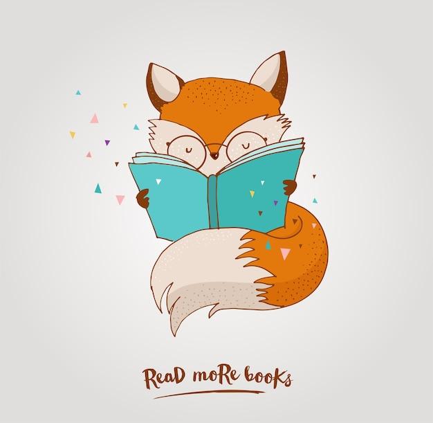 Smart fox lesebuch - grußkarten