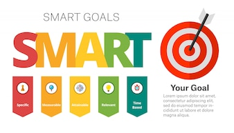 SMART Goals-Einstellungsdiagrammvorlage