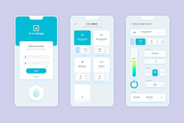 Smart home app-konzept