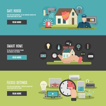 Smart home flat interaktive banner