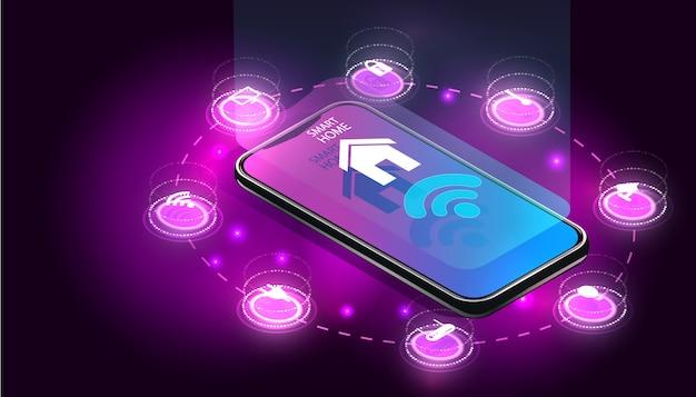 Smart home gesteuertes smartphone.