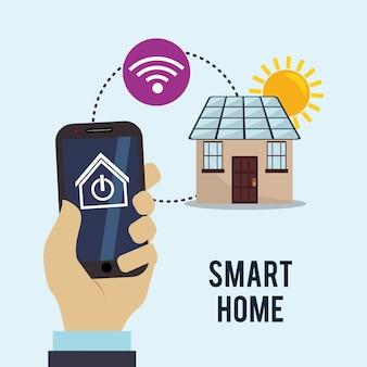 Smart home haus-icon-set