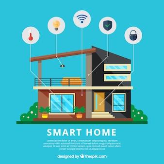 Smart home hintergrund mit funktionen